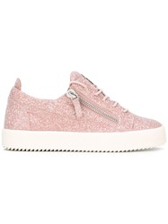 Giuseppe Zanotti Design Cheryl Glitter Low Top Sneakers Pink Purple