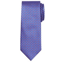 Chester Barrie By Geometric Silk Tie Blue Red