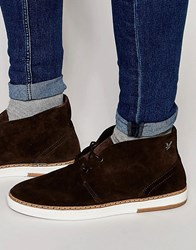 Lyle And Scott Brack Suede Chukka Boots Brown