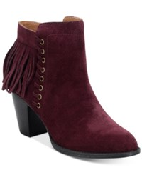 Sofft Winters Fringe Booties Women's Shoes Bordo