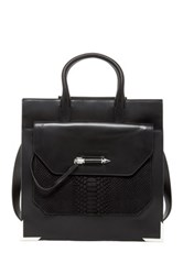 Mackage Titan Large Structured Leather Tote Black