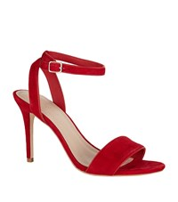 Sandro Suede Sandals Red