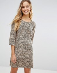Vero Moda Leopard Shift Dress Leopard Print Multi