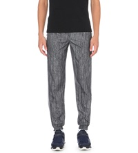 Pigalle Printed Satin Trim Jogging Bottoms Silver