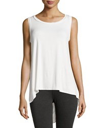 Neiman Marcus Draped Back High Low Tank White