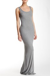 Heather By Bordeaux Scoop Neck Maxi Tank Dress Gray