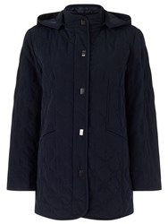 Eastex Hooded Diamond Leaf Raincoat Navy