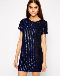 Lashes Of London Flash Sequin Dress Blue