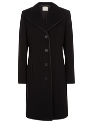 Windsmoor Leatherette Trim Wool Coat Black