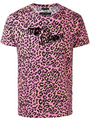 Marc Jacobs Leopard Logo Print T Shirt Men Cotton L Pink Purple