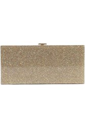 Halston Heritage Woman Glittered Acrylic Box Clutch Gold