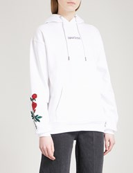 Wasted Paris Loveless Cotton Jersey Hoody White