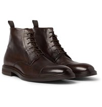 Paul Smith Jarman Cap Toe Leather Boots Brown