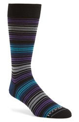 Hook Albert Colorblock Stripe Socks Blue Purple