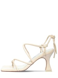 Miista 80Mm Leather Lace Up Sandals Nude