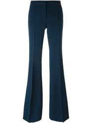 Burberry Flared Trousers Blue