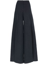 Jacquemus High Waisted Trousers Blue