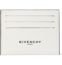 Givenchy Glow In The Dark Logo Print Coated Canvas Cardholder White