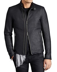 John Varvatos Star Usa Double Zip Moto Jacket Black