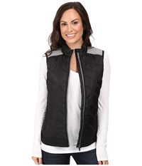 Cinch Quilted Polyfill With Knit Back Black Women's Clothing