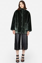 Opening Ceremony Culver Faux Fur Reversible Coat Olive Green