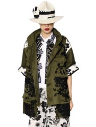 Antonio Marras Embroidered Cotton Canvas And Lace Jacket