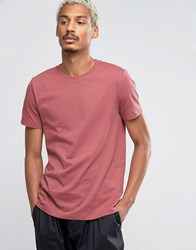Asos T Shirt With Crew Neck In Pink Henna