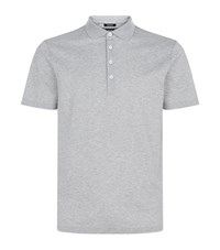 Boss Cotton Pique Polo Shirt Grey