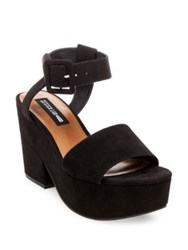 0942b155bddd Design Lab Lord And Taylor Bazaar Platform Sandals Black
