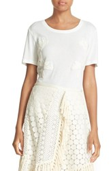 See By Chloe Women's Lace Applique Tee