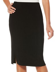 Rafaella Solid Pull On Skirt Black