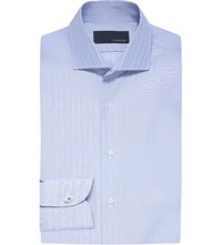 Lardini Slim Fit Cotton Shirt Blue