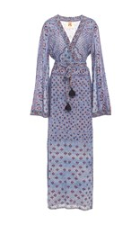 Figue Stevie Maxi Bell Sleeve Dress Light Blue