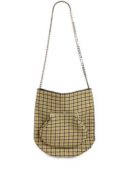 Victoria Beckham Round Wallet Wool Tweed Shoulder Bag Mustard