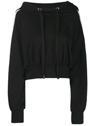No Ka' Oi Oversized Cropped Hoodie Black