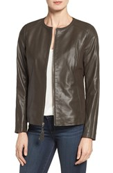 Via Spiga Women's Leather And Ponte Jacket Tusk