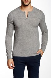 Autumn Cashmere Cashmere Henley Sweater Gray