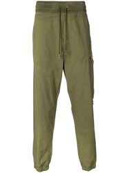 Mr And Mrs Italy Drawstring Tapered Trousers Green