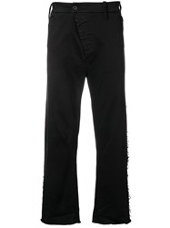 Lost And Found Rooms Frayed Curved Leg Trousers Black