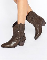 Glamorous Brown Western Boots Brown