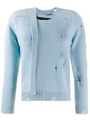 Marc Jacobs The Worn And Torn Sweater Blue