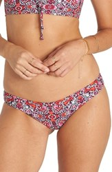 Billabong Women's Del Rey Isla Bikini Bottoms Pink Multi