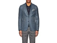 Isaia Cortina Wool Blend Two Button Sportcoat Turquoise