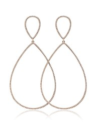 Rosa De La Cruz 18K Rose Gold And Diamond Teardrop Earrings Metallic