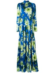 Andrew Gn Floral Long Sleeve Maxi Dress 60