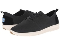 Toms Viaje Sneaker Black Burlap Men's Lace Up Casual Shoes