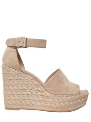 Stuart Weitzman 110Mm Soho Suede And Jute Wedges