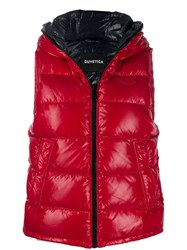 Duvetica Quilted Zip Up Gilet Red