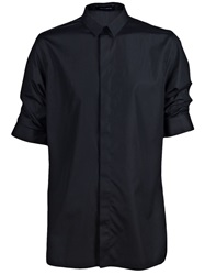 Kris Van Assche Cuffed Short Sleeve Shirt Black