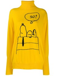 Chinti And Parker Snoopy Print Jumper Yellow